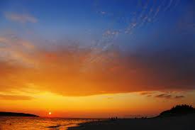 前浜ビーチ夕焼け