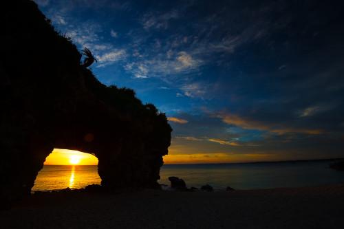 砂山ビーチ夕景